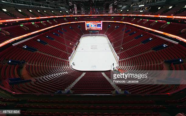 A view of the Bell Centre before the NHL game between the Montreal Canadiens and the Arizona Coyotes on November 19 2015 in Montreal Quebec Canada