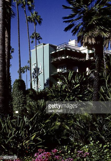 A view of the Beverly Hills Hotel in 1991 in Los Angeles California