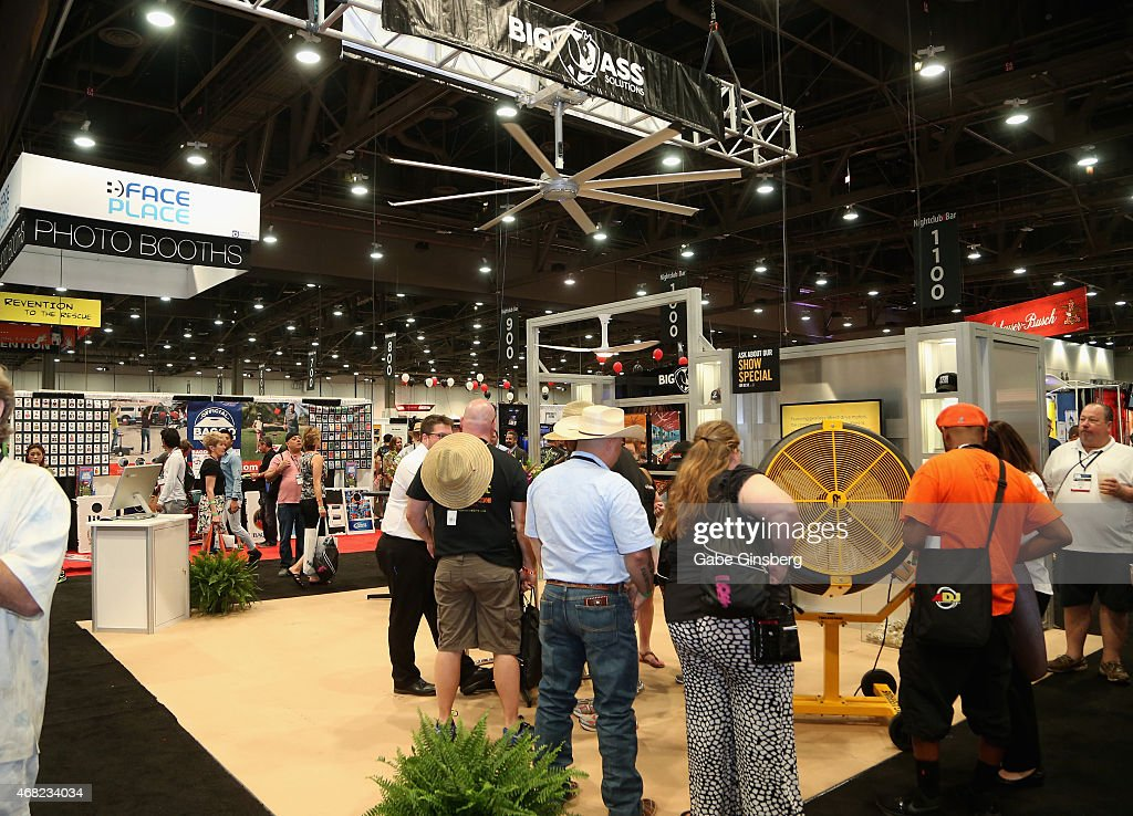 a view of the big ass fans booth during the 30th annual nightclub bar convention and