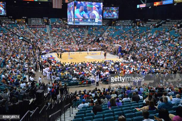 A view of the BIG3 three on three basketball league championship game on August 26 2017 in Las Vegas Nevada