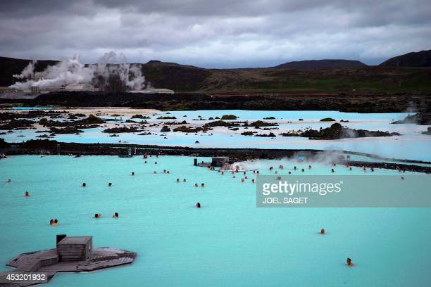 View of the 'Blue lagoon ' geothermal spa one of the most visited attractions in Iceland in the Reykjanes peninsula southwestern Iceland on July 5...