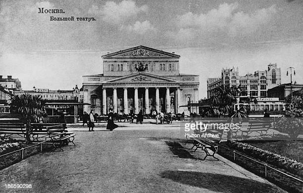 A view of the Bolshoi Theatre in Theatre Square Moscow circa 1900