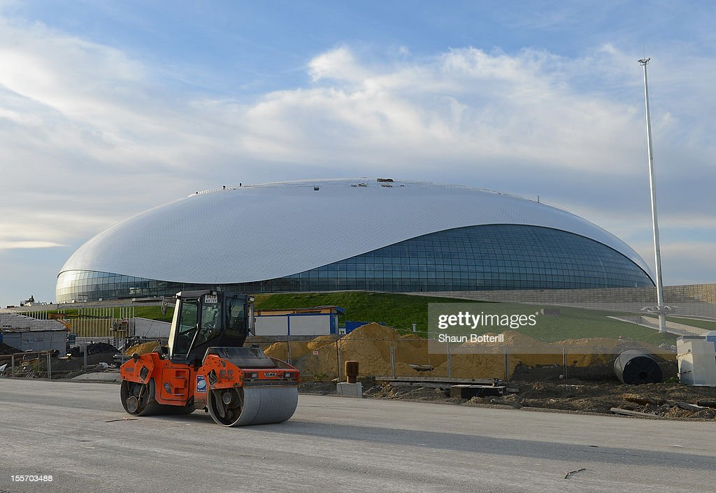 A view of the Bolshoy Ice Dome venue for Ice Hockey at the 2014 Winter Olympics on November 6, 2012 in Sochi, Russia.