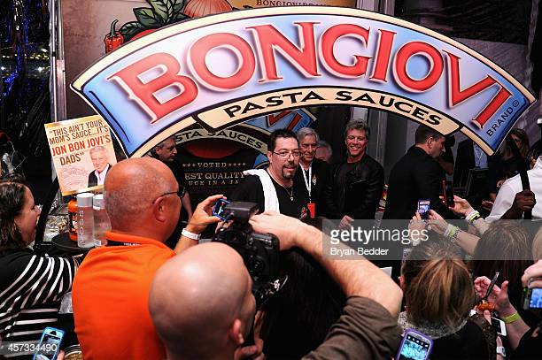 View of the Bongiovi Brand chef station at Ronzoni's La Sagra Slices hosted by Bongiovi Brand pasta sauces Adam Richman presented by Time Out New...