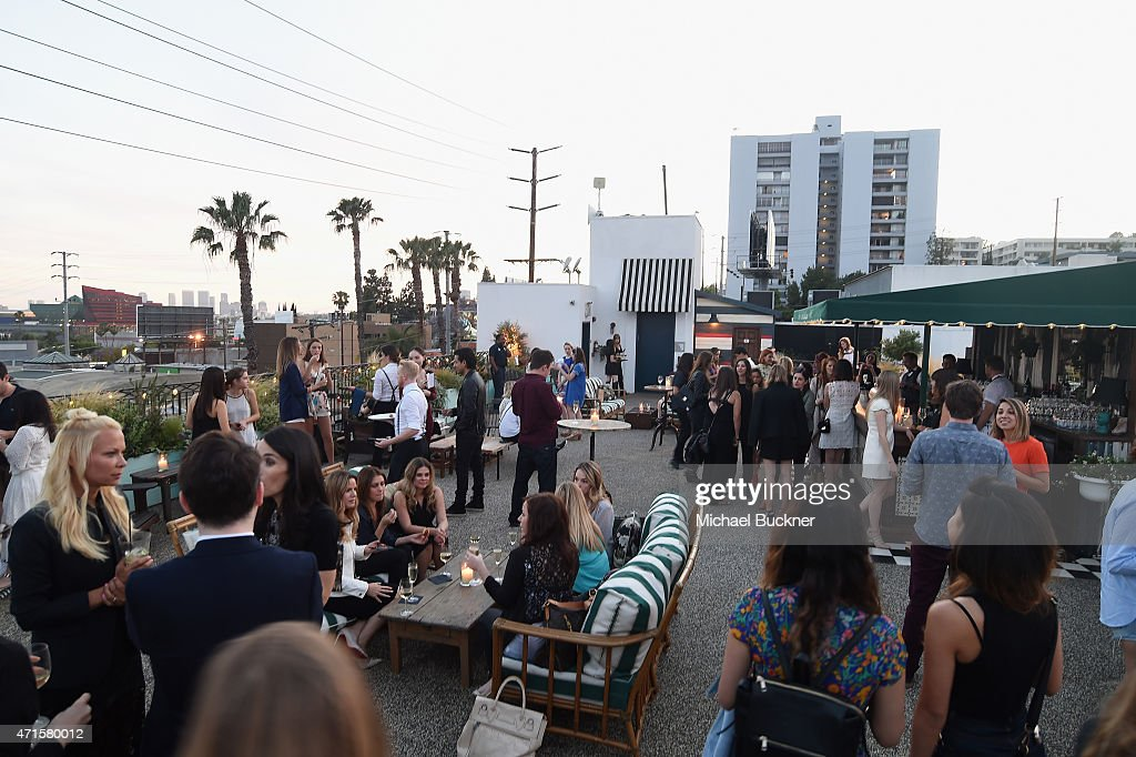 A view of the Bonpoint and Peyton List celebrate the YAM Spring Summer 2015 Collection at Palihouse Holloway on April 29 2015 in West Hollywood...