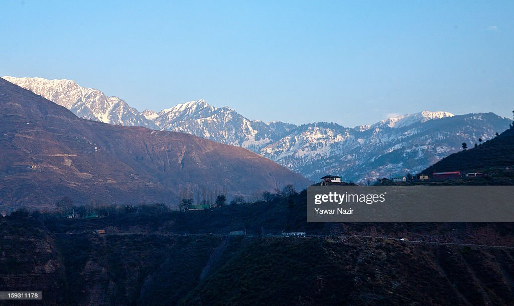 A view of the border area near Uri on January 11, 2013 in Salamabad, 120 km (75 miles) northwest of Srinagar, the summer capital of Indian Administered Kashshmir, India. People living in the mountainous region along the Line of Control (LOC), a military line that divides Indian-administered Kashmir from the Pakistan-administered Kashmir have continually been at risk due to hostility between the armies of the two rival nations, but trade has been carried out smoothly across the Line of Control in North Kashmir. Two Indian and two Pakistani soldiers have been killed in the last week near the Line of Control dividing Kashmir, with both countries blaming each other for the escalating tension.