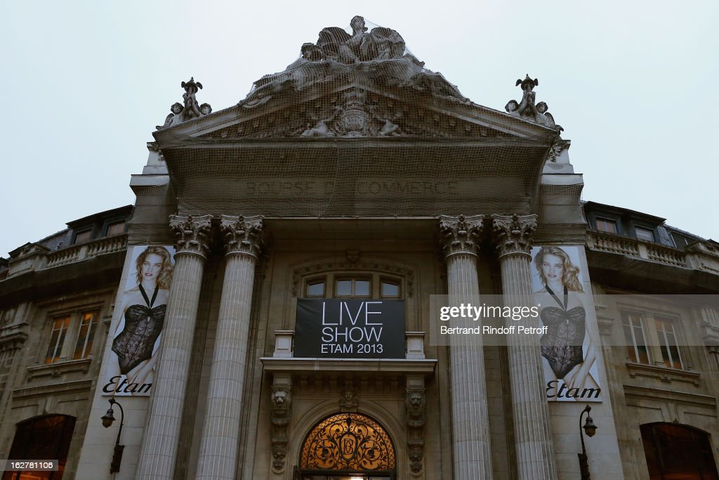 A view of the Bourse du Commerce building prior to the Etam Live Show Lingerie at Bourse du Commerce on February 26, 2013 in Paris, France.