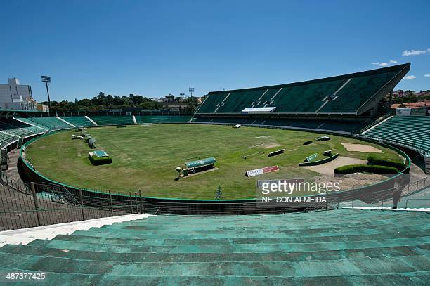 View of the Brinco de Ouro da Princesa football stadium which will host Nigeria's national football team during the FIFA World Cup Brazil 2014 in...