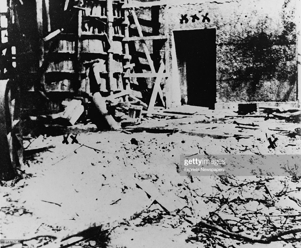 A view of the bunker in Berlin Germany where Adolph Hitler committed suicide on April 30 1945 in the final days of World War II when the Red Army...