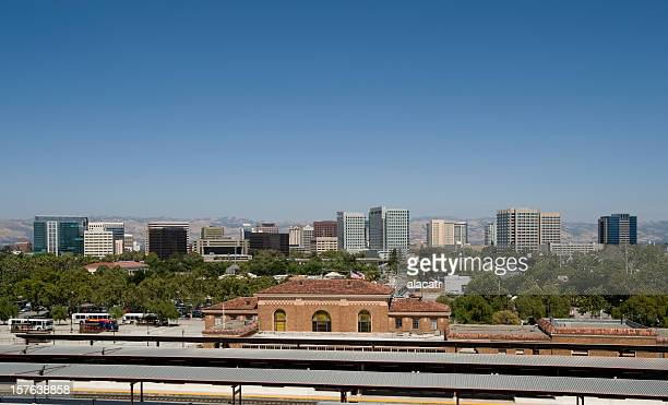 A view of the business district of San Jose, California
