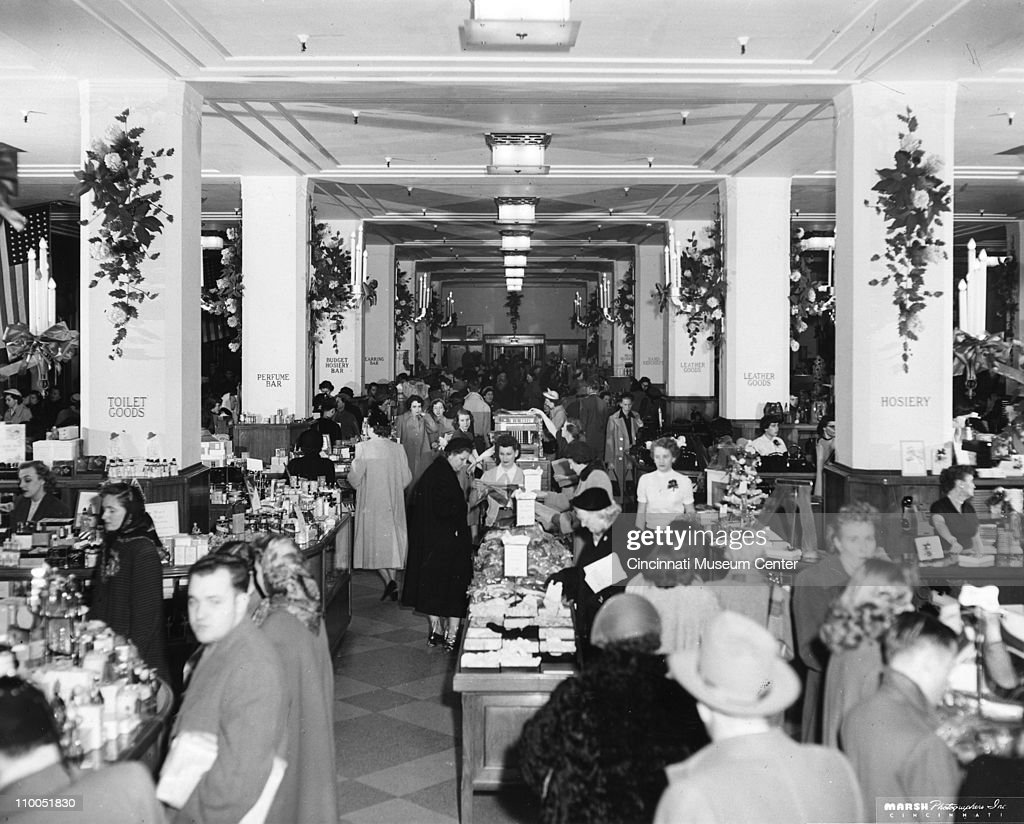 View of the busy interior of an unspecified department - Interior car detailing cincinnati ...