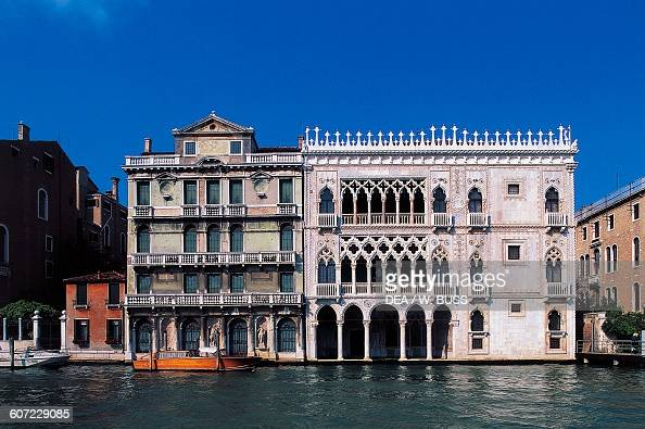 View of the Ca' d'Oro and of MianiColettiGiusti palace Venice Veneto Italy