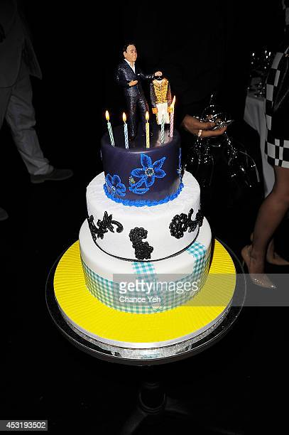 A view of the cake at Madame Paulette's 55th Anniversary and founder John Mahdessian's Birthday Party at Beautique on August 4 2014 in New York City