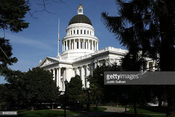 A view of the California State Capitol February 19 2009 in Sacramento California After days of wrangling the California State Senate secured the...