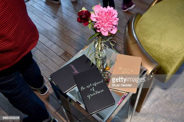 A view of the calligraphy notebooks at TNT's Will Dinner By Toro's Chef Jamie Bissonette presented by TNT'S Supper Club at West Edge on May 21 2017...