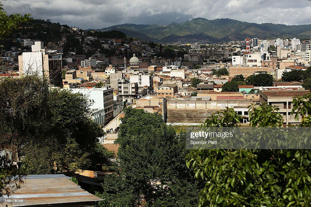 A view of the capital on July 17 2012 in Tegucigalpa Honduras Honduras now has the highest per capita murder rate in the world and its capital city...
