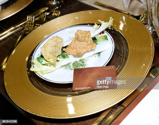 A view of the Capital One Celebration of the launch of the new SavorSM during A Priceless Table presented by Mastercard at The Hollywood Roosevelt on...