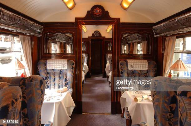A view of the carriage interior of the Orient Express prior to departure from Victoria station in central London Thursday May 26 2005