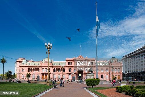 View of the Casa Rosada, Buenos Aires Argentina.