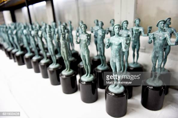 A view of the casting and molding process at the 23rd Annual Screen Actors Guild Awards the Casting of The SAG Awards Statuette at American Fine Arts...