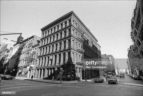 View of the castiron facade of Haughwout Building on Broadway and Broome Street in SoHo New York New York October 10 1974
