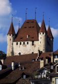 View of the castle from the town of Thun 11801190 canton of Bern Switzerland 12th century