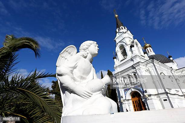 A view of the Cathedral of St Michael the Archangel is seen in downtown Sochi prior to the Sochi 2014 Winter Olympics on February 1 2014 in Sochi...