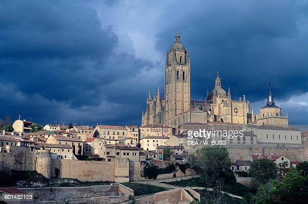 View of the Cathedral of the Assumption of the Virgin Mary Segovia Castile and Leon Spain 16th18th century