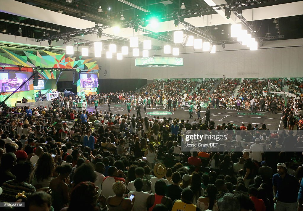 A view of the celebrity basketball game presented by Sprite during the 2016 BET Experience on June 25, 2016 in Los Angeles, California.