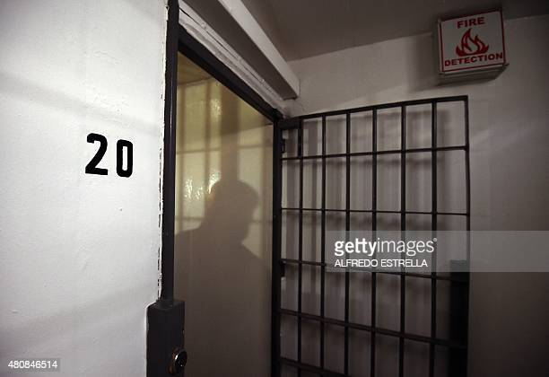 View of the cell in the Almoloya prison where Joaquin Guzman Loera 'El Chapo Guzman' was and from which he escaped through a tunnel on July 15 2015...