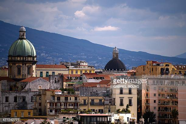 View of the center of Naples taken on March 07 2014 AFP PHOTO / GABRIEL BOUYS