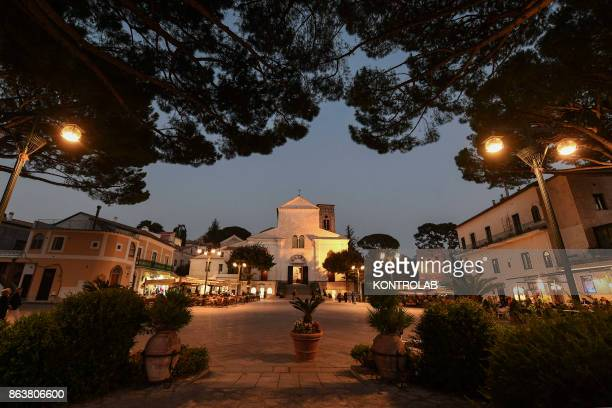 View of the central Square in Ravello is a town and situated above the Amalfi Coast