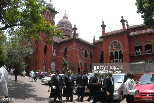 View of the Chennai High Court Building in Chennai Tamil Nadu India