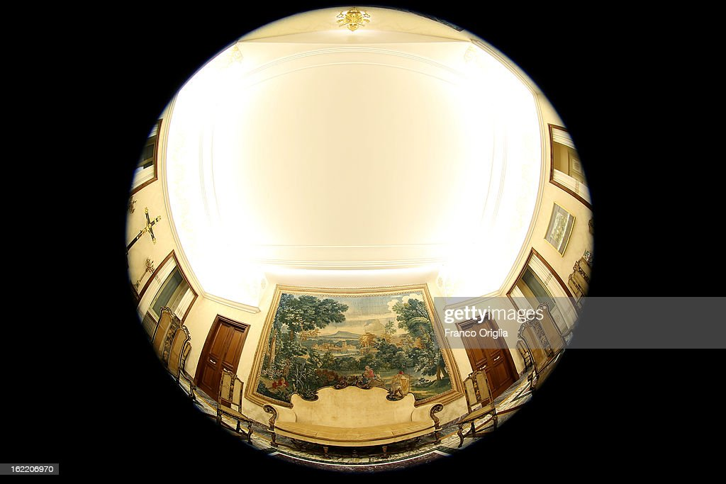 A view of the Chinese Room at the Apostolic Palace of Castelgandolfo on February 20, 2013 in Rome, Italy. The Apostolic Palace and The Ponifical Villas of Castelgandolfo, 10 miles south Rome, are the summer residence of Popes and will host Pope Benedict XVI during the next conclave.