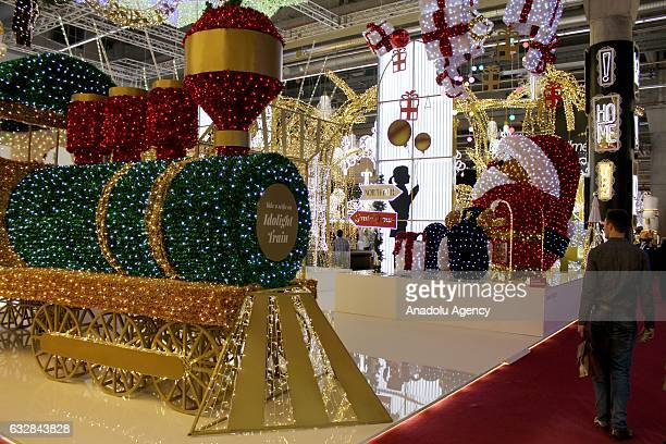 A view of the Christmas World 2017 Fair organized by the Messe Frankfurt in Frankfurt Am Main Germany on January 27 2017 Christmas decorations...