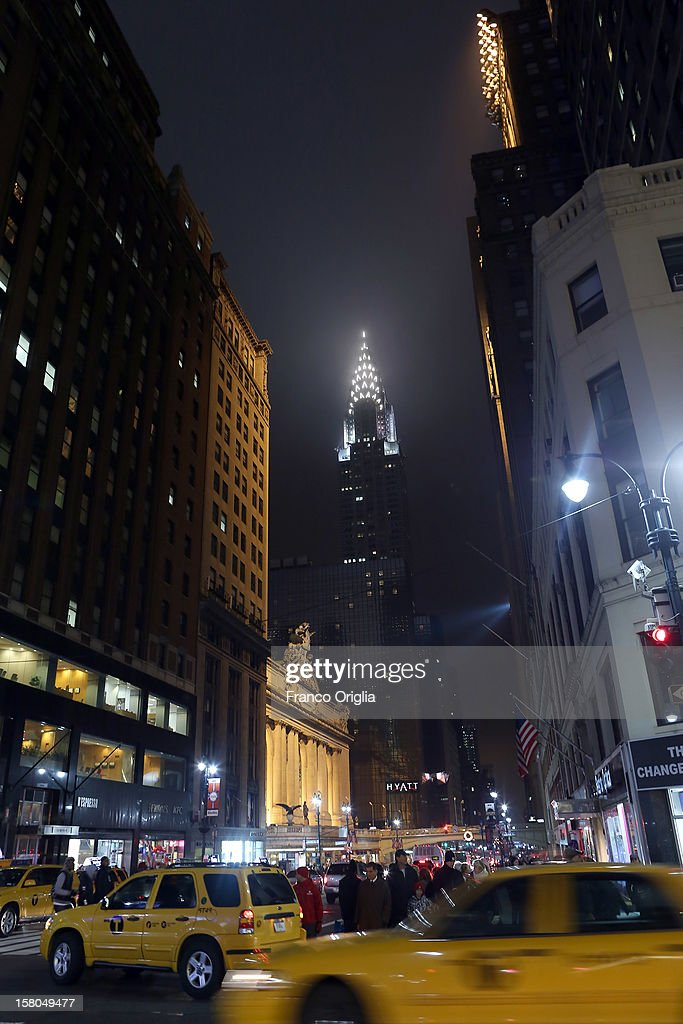 A view of the Chrysler Building on December 5, 2012 in New York City. Christmas holiday season in New York is the most wonderful time of the year. NYC with it's lights, Christmas trees, window shopping, holiday events and performances is a pretty spectacular sight.