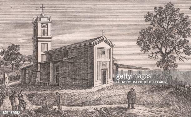 View of the Church of Saint Michael the Archangel Brigola Monzuno EmiliaRomagna Italy lithograph ca 13x17 cm from Le Chiese Parrocchiali della...