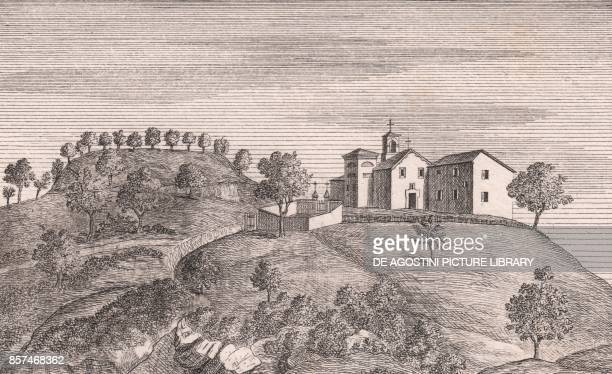 View of the Church of Saints Mary and Joseph Cassano Monterenzio EmiliaRomagna Italy lithograph ca 13x17 cm from Le Chiese Parrocchiali della Diocesi...
