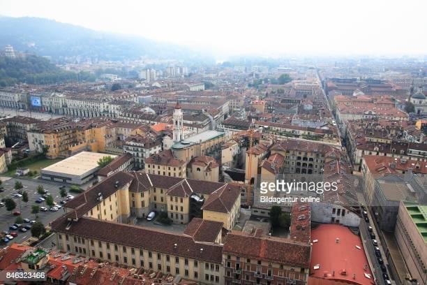 View of The City Center From Mole Antonelliana Turin Torino Piedmont Italy