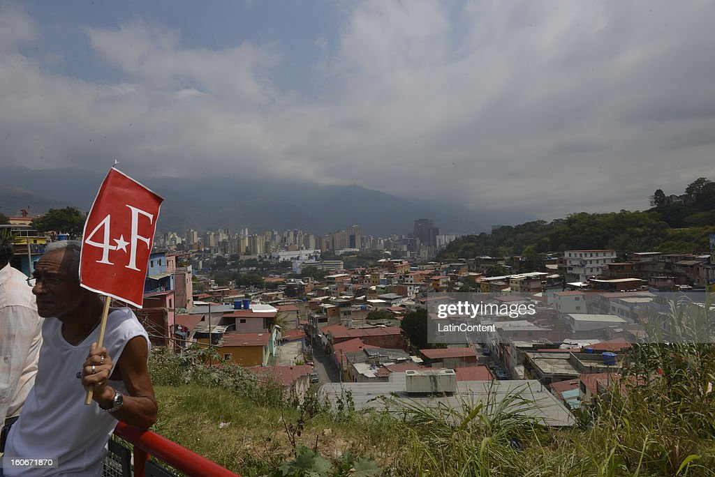 View of the city during the 11th anniversary of a failed coup that Chavez commanded in 1992, on February 04, 2013 in Caracas, Venezuela. This event catapulted him to win the presidency in 1998 and begin the Bolivarian Revolution. President Chavez still remains hospitalized in Havana .