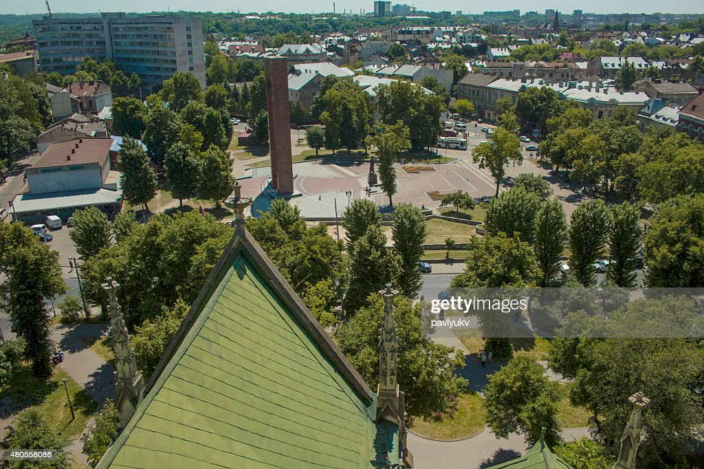 view of the city from a height : Stock Photo