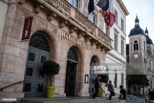 A view of the City Hall or Hotel de Ville on September 29 2015 in ChalonsurSaone eastern France The end of the pork alternative menu in school...
