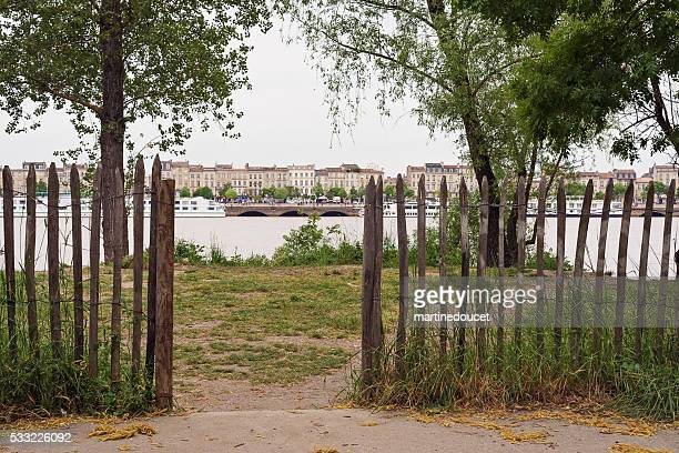 Vue de la ville de Bordeaux, France de rive droite.