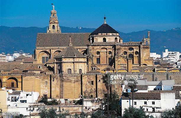 View of the city of Cordoba and the Great Mosque 8th16th century now St Mary's Cathedral Andalusia Spain