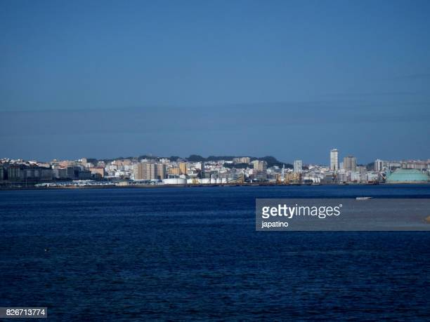 View of the city of La Coruña from the city of Santa Cruz