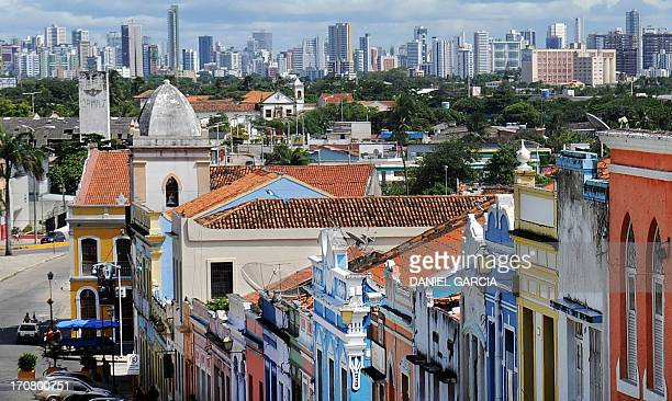 View of the city of Olinda in the state of Pernambuco on June 16 2013 Olinda is located on the country's northeastern Atlantic Ocean coast just north...