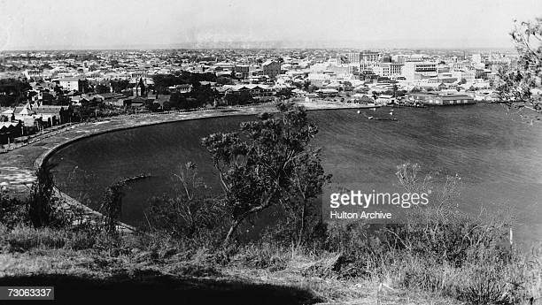 A view of the city of Perth on the coast of Western Australia circa 1935