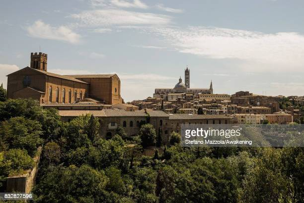 A view of the city of Siena is seen ahead of today's Palio on August 16 2017 in Siena Italy The Palio is the most famous event in Siena and is a...