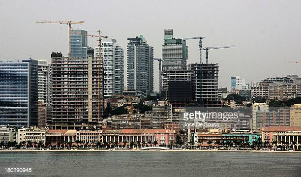 CONTENT] A view of the city skyline under construction along the Bay in the city of Luanda Angola