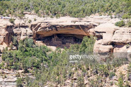 View of the Cliff Palace, Mesa Verde National Park, Colorado : Foto de stock